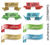 vector modern colored ribbons... | Shutterstock .eps vector #235988992