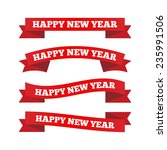 happy new year ribbons. vector... | Shutterstock . vector #235991506