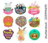 set of holiday illustrations  ...   Shutterstock .eps vector #235994695