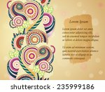 abstract asian ethnic floral...