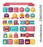 shopping sale banner flat... | Shutterstock .eps vector #236014105