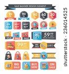 shopping sale banner flat... | Shutterstock .eps vector #236014525
