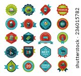 shopping badge banner flat... | Shutterstock .eps vector #236015782