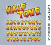 halftone comic pop art alphabet