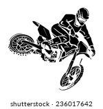 moto cross rider   Shutterstock .eps vector #236017642