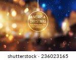 winter night street  vector... | Shutterstock .eps vector #236023165