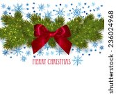christmas background with fir...   Shutterstock .eps vector #236024968