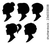 vector silhouettes of women... | Shutterstock .eps vector #236033038