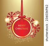 christmas greeting card. vector ... | Shutterstock . vector #236036962