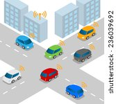 connected car or intelligent... | Shutterstock .eps vector #236039692