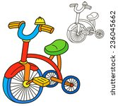 bicycle. coloring book page....   Shutterstock .eps vector #236045662