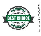 best choice stamp  label  and... | Shutterstock . vector #236047576