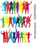 dancing silhouettes   Shutterstock .eps vector #236054302