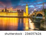 london.the big ben and... | Shutterstock . vector #236057626