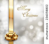 merry christmas background with ... | Shutterstock .eps vector #236058802