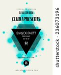 dance party music poster... | Shutterstock .eps vector #236073196