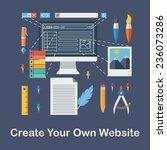 flat design vector illustration ... | Shutterstock .eps vector #236073286