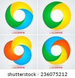 vector circle logo design...
