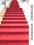 red carpet on stairs | Shutterstock . vector #236081182