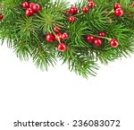 christmas decoration wreath ... | Shutterstock . vector #236083072