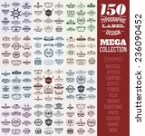 150 typographic label design... | Shutterstock .eps vector #236090452