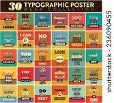 30 Typographic Poster Set  ...