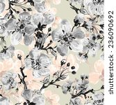 seamless pattern of beautiful... | Shutterstock . vector #236090692