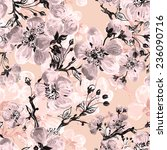 seamless pattern of beautiful... | Shutterstock . vector #236090716