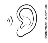 ear icon | Shutterstock . vector #236094388