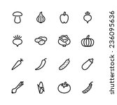 vegetable icon set | Shutterstock .eps vector #236095636