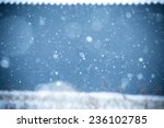 falling snow on the blue... | Shutterstock . vector #236102785