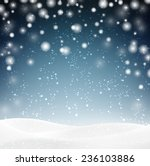 Winter Background With Snow....