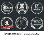 anniversary laurel wreath... | Shutterstock .eps vector #236109652