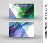 vector business card  set for... | Shutterstock .eps vector #236112676