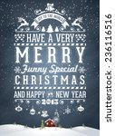 christmas and new year... | Shutterstock .eps vector #236116516