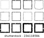 set of vector scribble squares . | Shutterstock .eps vector #236118586