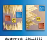 vector business flyer template. ... | Shutterstock .eps vector #236118952