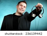 music and technology   young... | Shutterstock . vector #236139442