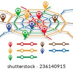 abstract metro map in form of... | Shutterstock .eps vector #236140915