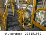industrial staircase going up... | Shutterstock . vector #236151952