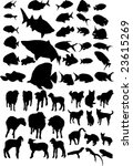 animal vector silhouettes | Shutterstock .eps vector #23615269