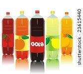 carbonated drink bottles | Shutterstock .eps vector #23615440