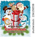 vintage christmas poster design ...   Shutterstock .eps vector #236158558