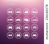 Cars Mobile Icons Set Different ...