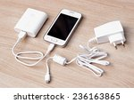 smartphone with a power bank... | Shutterstock . vector #236163865