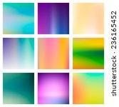 9 abstract colorful smooth... | Shutterstock .eps vector #236165452