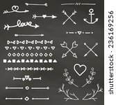 vintage elements vector set | Shutterstock .eps vector #236169256