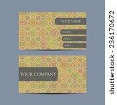 abstract business card set.... | Shutterstock .eps vector #236170672