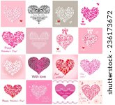 greeting cards with hearts | Shutterstock .eps vector #236173672