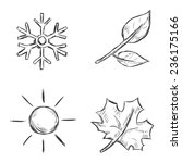 Vector Set Of Sketch Season...